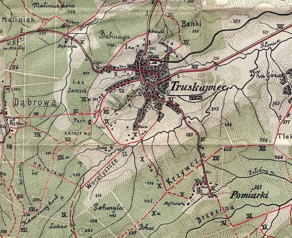 Трускавець карта міста минулого